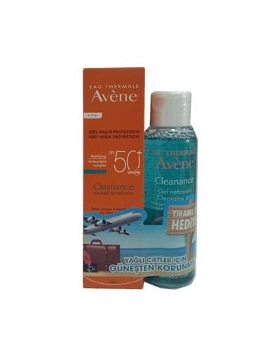Avene AVENE Cleanance Solaire SPF50+ 50 ml - TEMİZLEME JELİ HEDİYE Renksiz